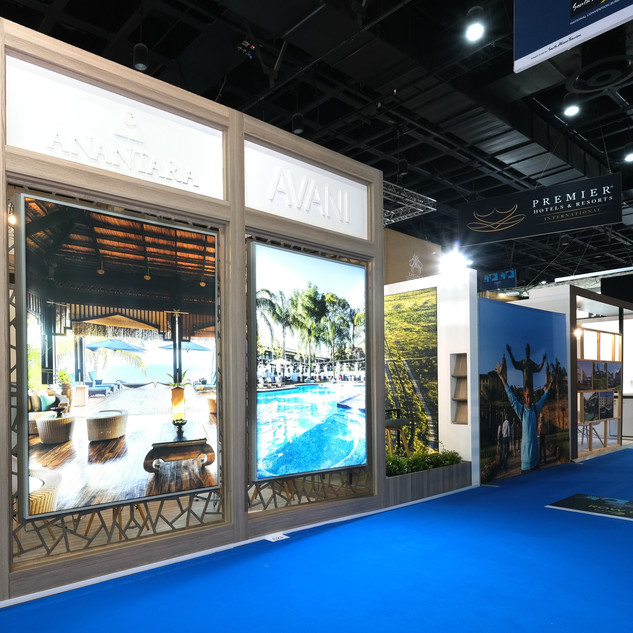 Minor Hotels at Meetings Africa, 36sqm Cstom Stand