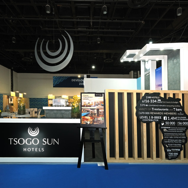 Tsogo Sun at Meetings Africa, 36sqm Custom Stand