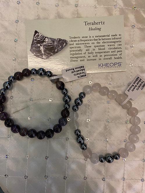 Amethyst or Rose Quartz Terahertz Bracelet