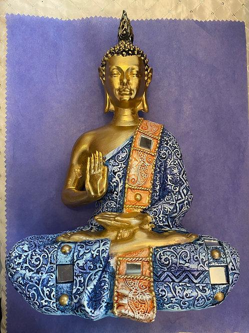 Abhaya Buddha, Blue & Gold