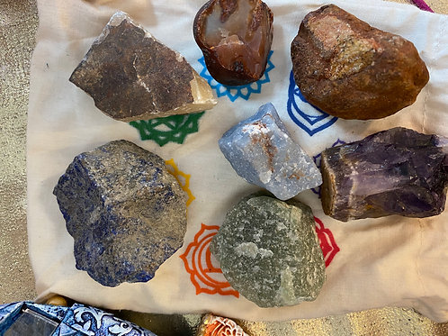 Rough Chakra Stones, large