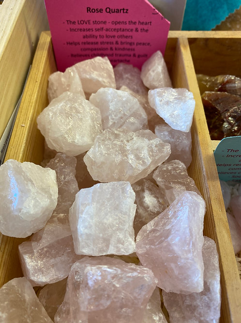 Rose Quartz Rough or Polished