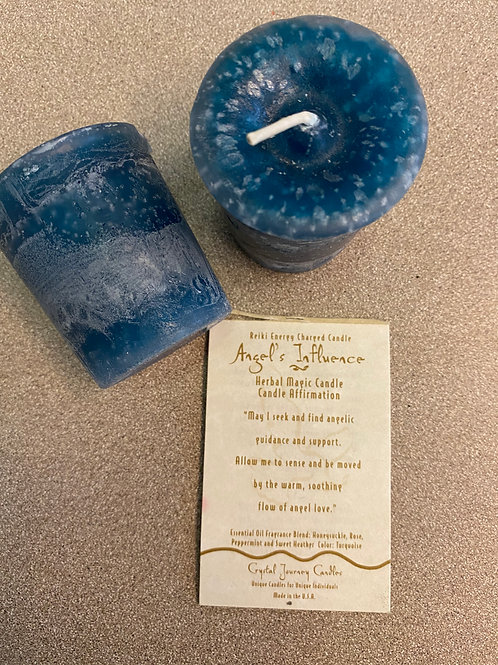 Angel Influence Votive Candle, Turquoise