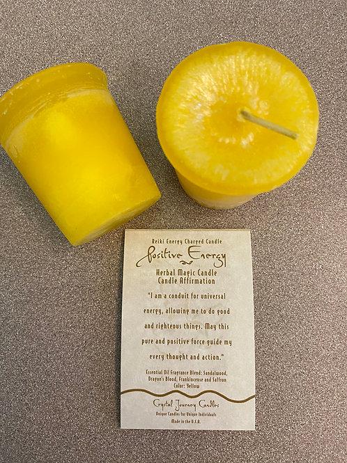 Positive Energy Votive Candle, Yellow