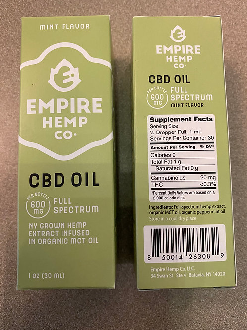 CBD 600 MG Full Spectrum Oil