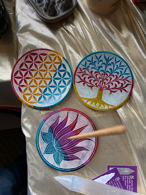 Colorful Soapstone Incense Holders/Dish