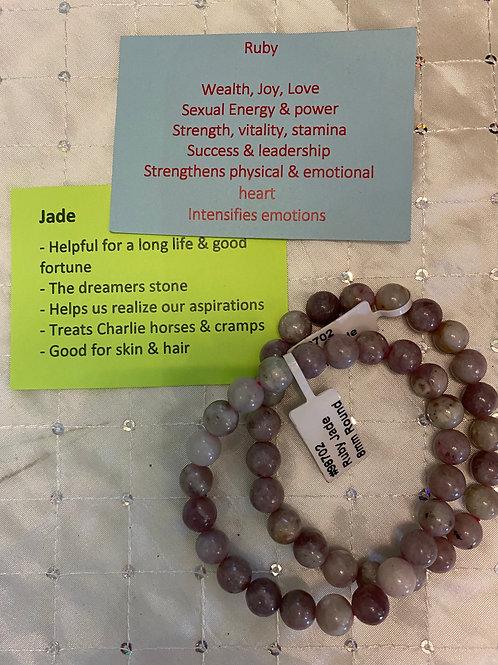 Ruby Jade Bracelet