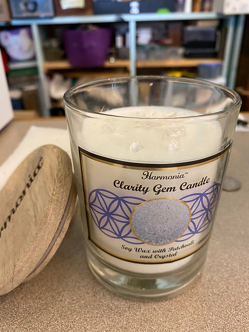 "6"" Patchouli & Clear Quartz Candle"