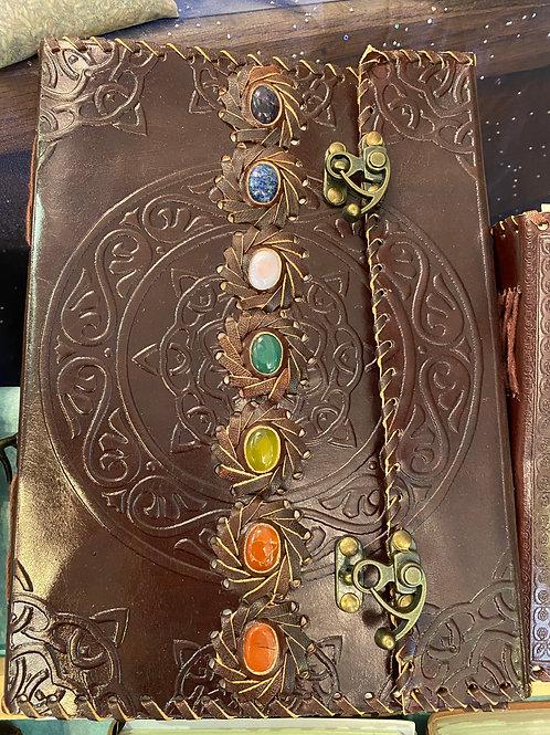 Leather Journal, Chakra Stones