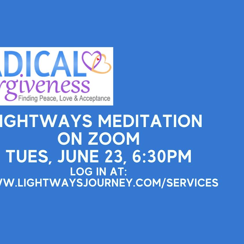 June 23, Radical Forgiveness on Zoom
