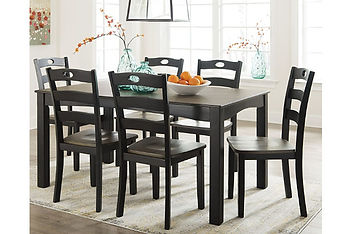D338 Froshburg Dining room table and cha