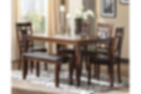 D384 bennox dining room table and chairs
