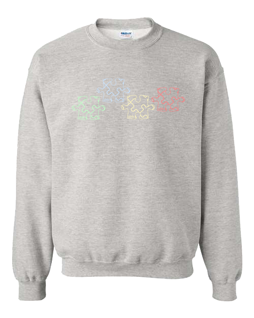 Primary Colors Puzzle Sweater