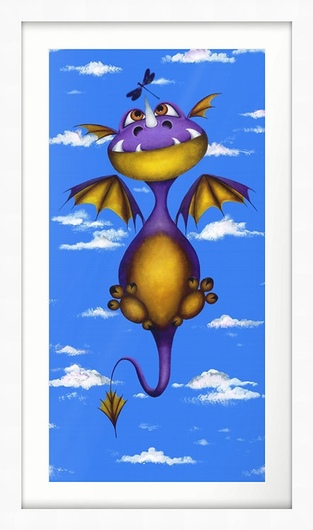"""Ever Seen a Dragon Fly?"" Limited Edition Framed Print"