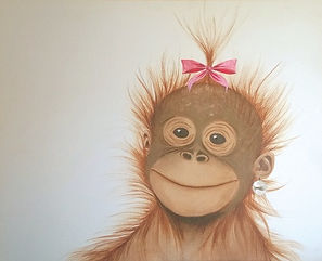 Orangutan with a Pearl Earring Web Ready