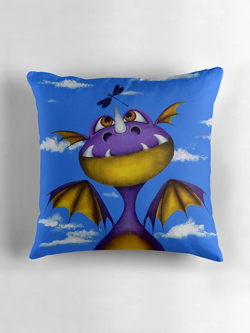 """Ever Seen a Dragon Fly?"" Throw/Floor Pillow"