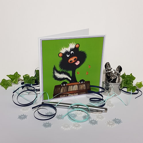 """Drunk as a Skunk"" Pack of 5 Greetings Cards"