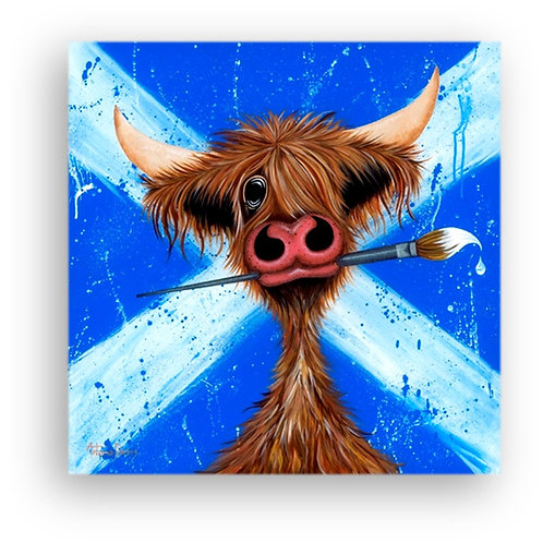 """Fond o' Skiddlin' Aboot"" Limited Edition Canvas Print"