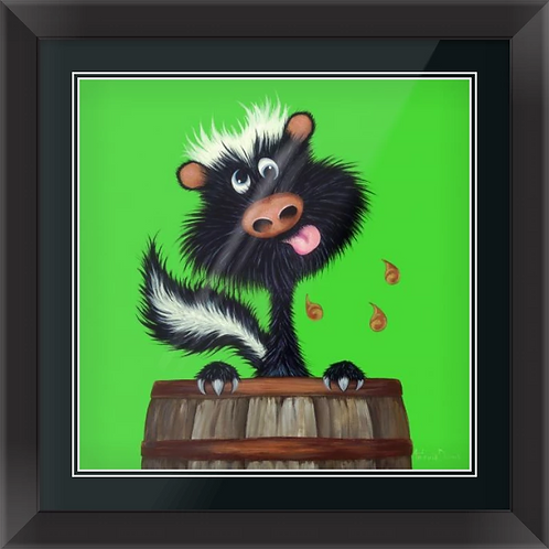 """""""Drunk as a Skunk"""" Limited Edition Framed Print"""