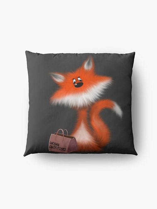 """Urban Fox"" Throw/Floor Pillow"