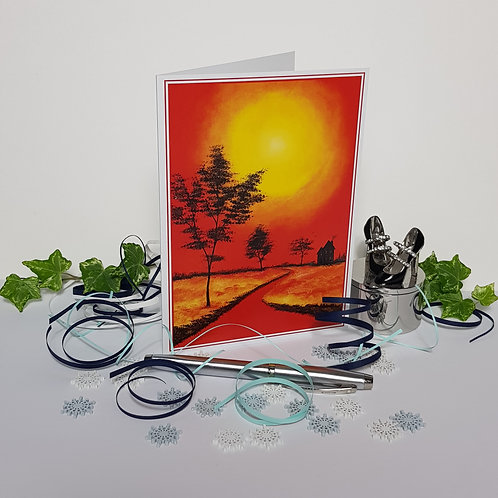 """""""Red Sky at Night"""" Pack of 5 Greetings Cards"""
