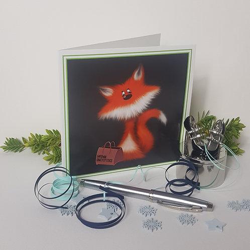 """Urban Fox"" Pack of 5 Greetings Cards"