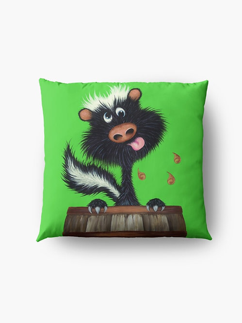 """Drunk as a Skunk"" Throw/Floor Pillow"