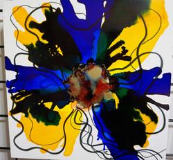 "Floral Series – B3 - Framed 16x16"""