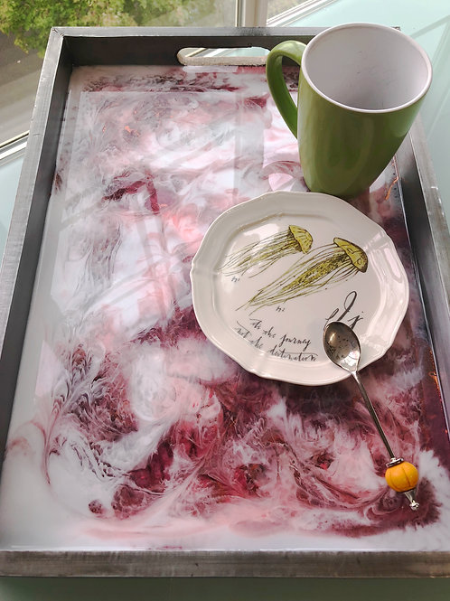 Deep Red Bronze Stainless Steel Tray