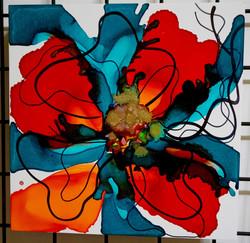 "Floral Series – B10 - Framed 16x16"""