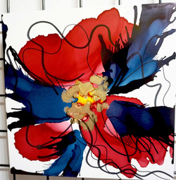 "Floral Series – B6 - Framed 16x16"""