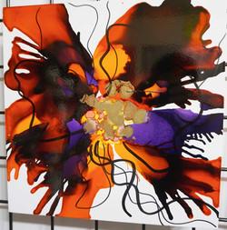 "Floral Series – B4 - Framed 16x16"""