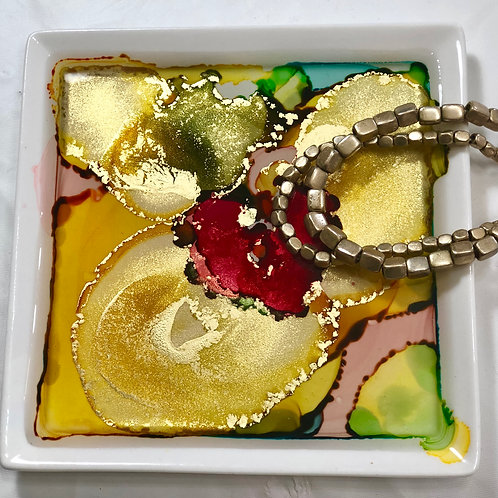 Gold Yellow Ring Plate