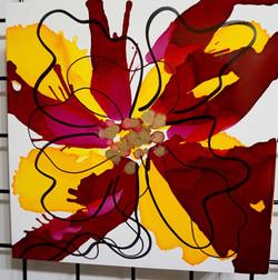 "Floral Series – B8 - Framed 16x16"""