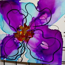 "Floral Series – B13 - Framed 16x16"""