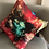Thumbnail: Red Bloom Pure Silk Accent Pillow