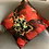 Thumbnail: Red Orange Bloom Pure Silk Accent Pillow