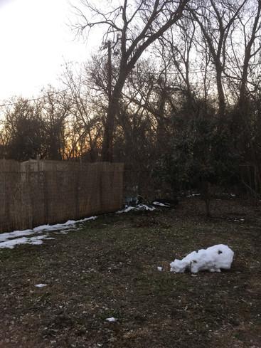 Fallen snowmaiden at sunset