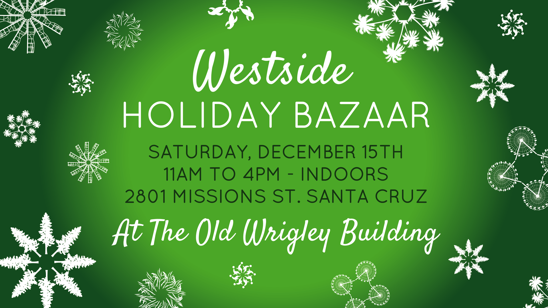 Westside Holiday Bazaar Facebook banner