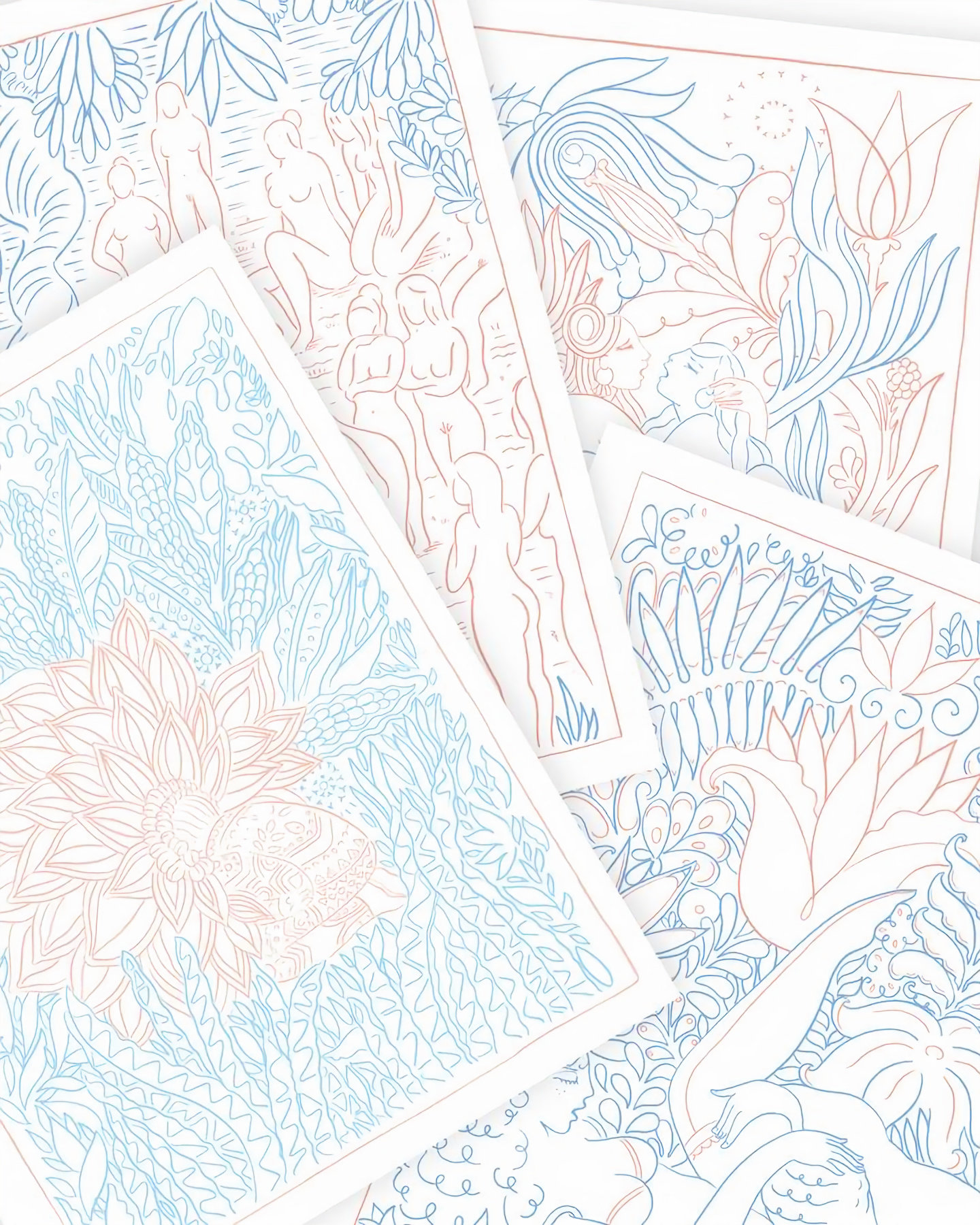ALPHACOLORING VOL 1: The Garden of Delight, Erotic Coloring Book