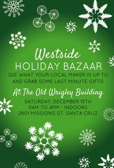 Westside Holiday Bazaar Postcard design.