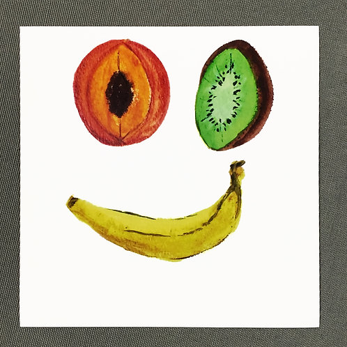 """Fruit Face II""Print"