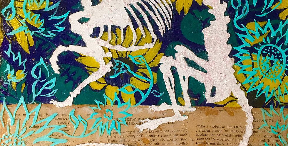 Rat Bones & Sunflowers by Zoe Toscano