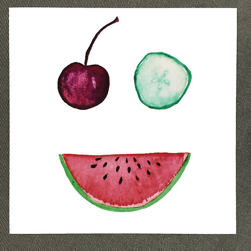 """Fruit Face I"" Print"