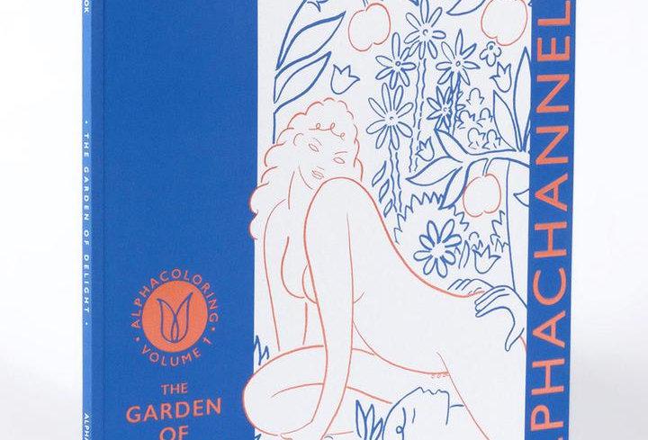ALPHACOLORING VOL 1:  The Garden of Delight, Erotic Coloring Book