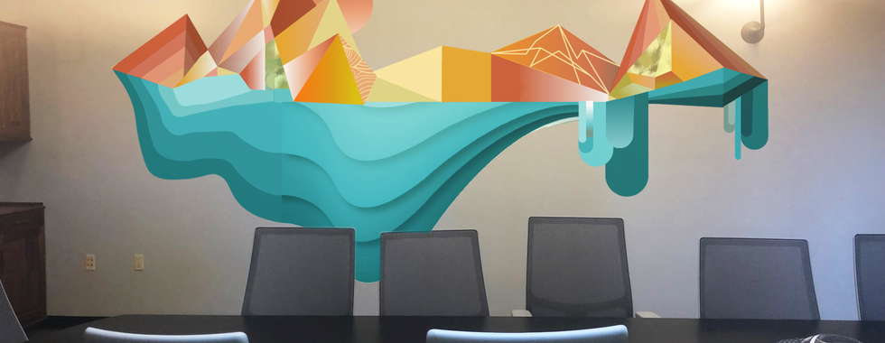 Mural Design for Conference Room at Nextspace