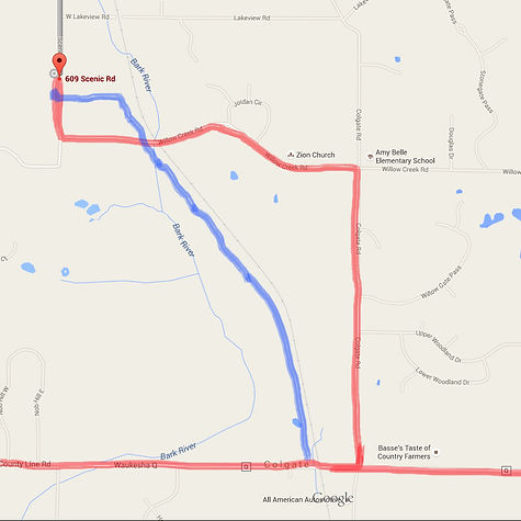 Scenic Pit Trucking Route Map