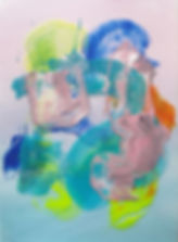 Heidi Anniina Mattila acrylic on paper and plastic