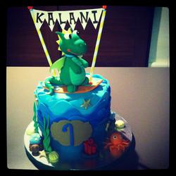 Surfer Baby Dragon Cake
