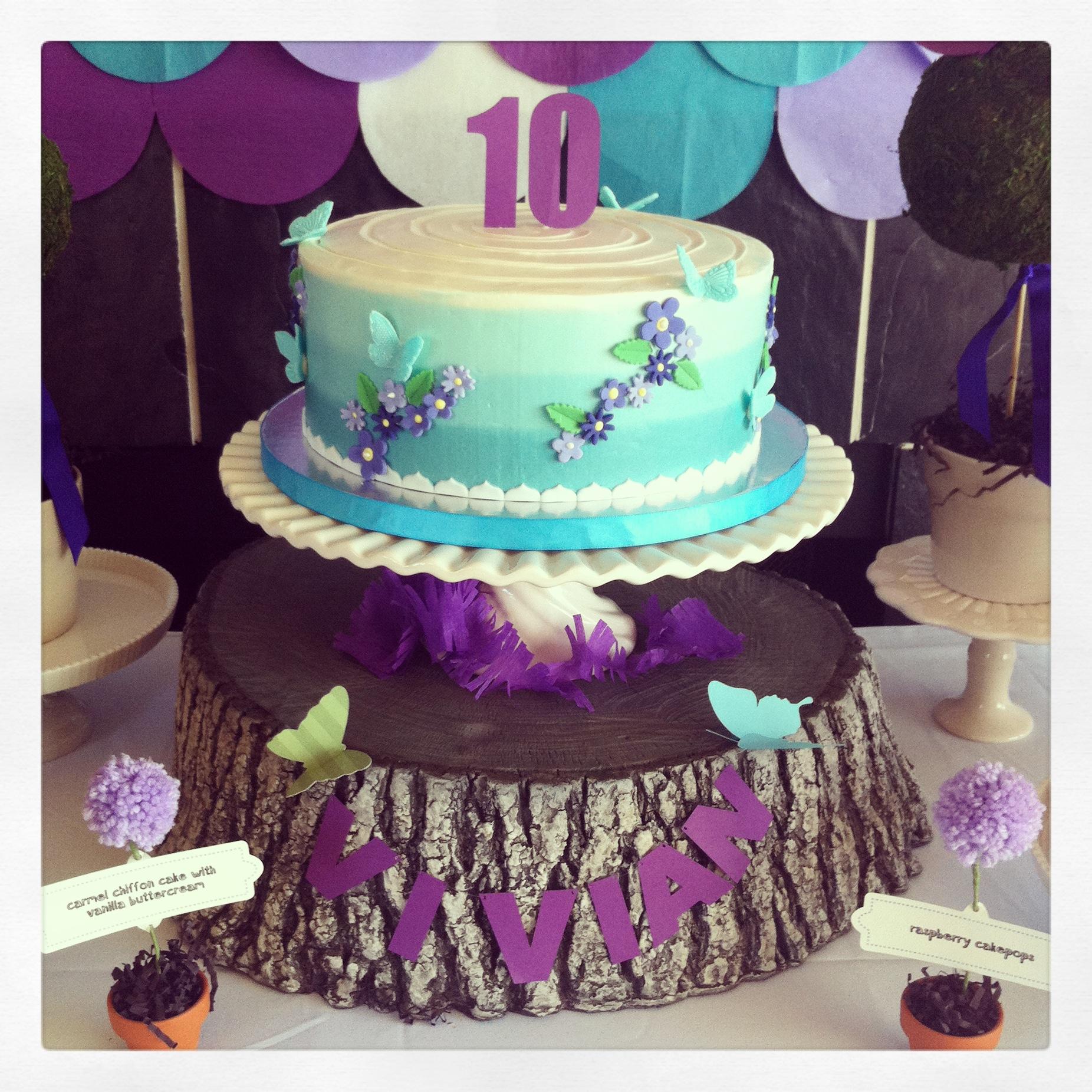 Ombre Garden Cake
